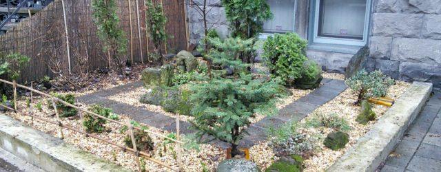 Jardin calme à Montréal